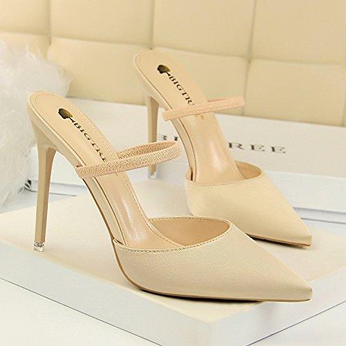 Pour Pale Simples Avec Minces Baotou Une Chaussures quatre Baotou Trente Femmes Les Or Sont Paire Et De 5wx6AqUXq
