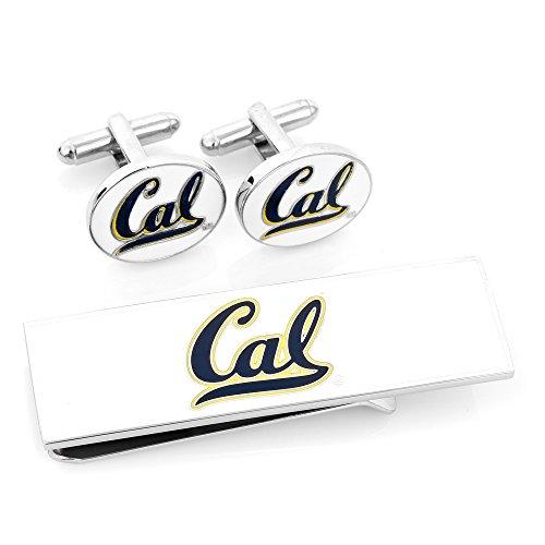 NCAA Mens U Of California Bears Cufflinks And Money Clip Gift (California Golden Bears Cufflinks)