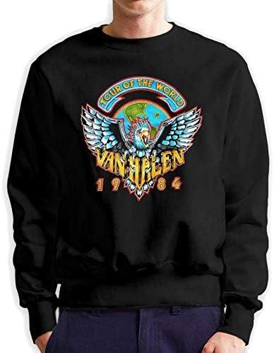 Van Halen Band sudadera con capucha de manga larga y cuello redondo para hombre