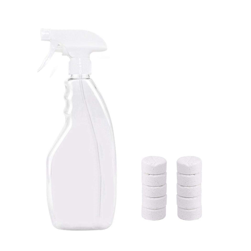 Glumes Concentrated Super Auto Glass Cleaner + Multifunctional Car Cleaning Watering Spray Can - Concentrated Effervescent Tablets - Keep Glass Windshield Clear Improved Visibility (10pcs)
