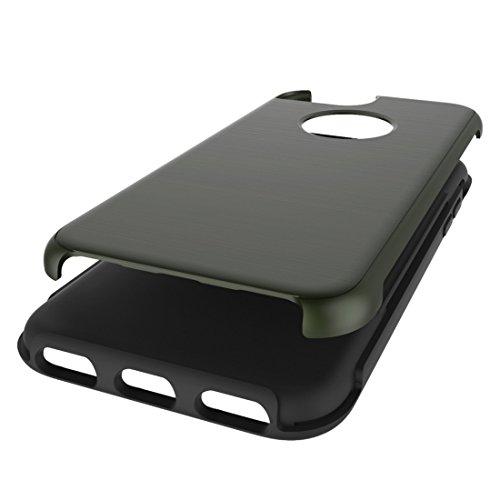 Phone Taschen & Schalen Für iPhone 6 Plus / 6s Plus, Simple Brushed Texture 2 in 1 PC + TPU Kombination Schutzhülle ( Color : Army green )
