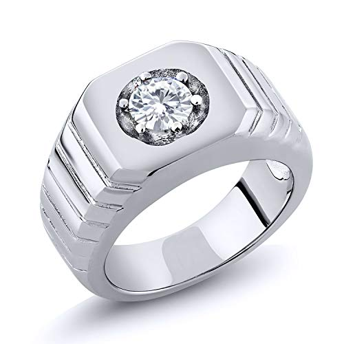 Created Moissanite Gents Ring - 3