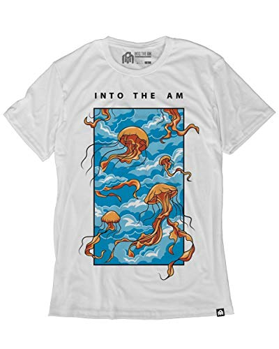 INTO THE AM Float On Men's Graphic Tee Shirt (White, Large)