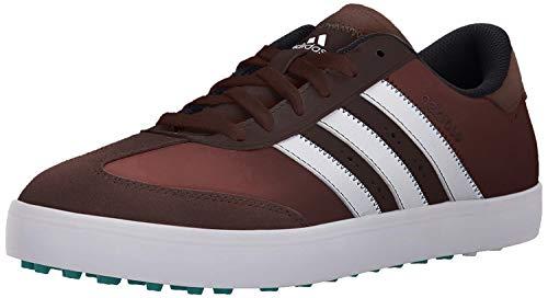 adidas Men's Adicross V Golf Shoe, Brown/White/EQT Green, 10.5 M US