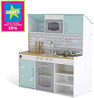 Plum Uk Peppermint Townhouse 2 In 1 Dolls House And Kitchen