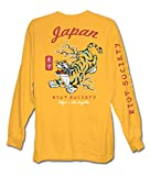Riot Society Tiger Blossom Mens Long Sleeve T-Shirt - Gold, Small