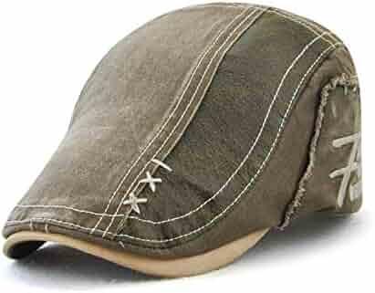 d1787b68 Topshion Adjustable Newsboy Cap Ivy Flat Hat Casual Gatsby Golf Driver  Beret Caps for Men &