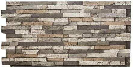 48W X 24H X 1/½D Faux Stone Wall Panel MESA Apache Color Stacked Slate Stone Siding
