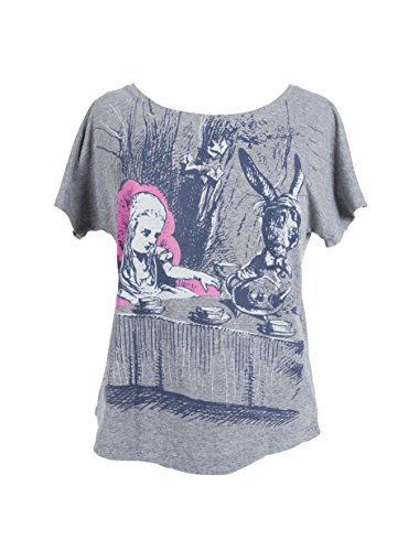 Out of Print Women's Alice in Wonderland Dolman T-Shirt Large -