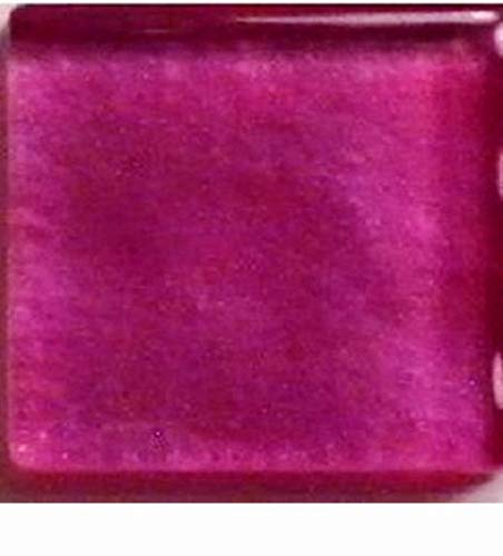 (Glass Mosaic Tiles for Art DIY Crafts - Fuchsia Hot Pink Metallic - 3/8 inch - 50 Count - Art Tiles - for Indoor or Outdoor Mosaic Art Projects)