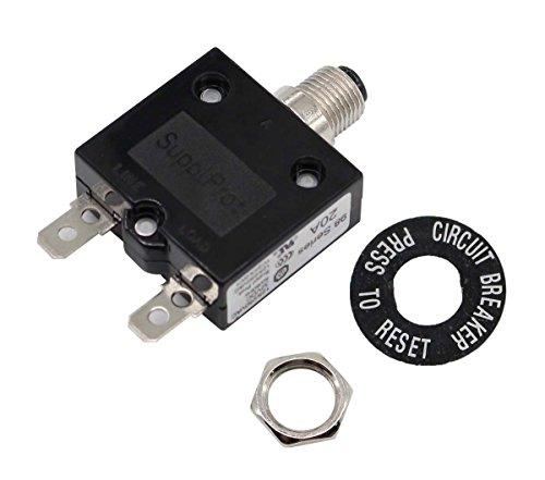 20A Circuit Breaker 98 Series 32VDC 125/250VAC Model 98 Series 20A 32VDC - 98 Series