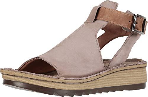 NAOT Footwear Women's Verbena Sandal Stone Nubuck/Latte Brown Leather 5 M ()