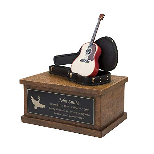 Perfect Memorials Custom Engraved Small Acoustic Guitar Cremation Urn