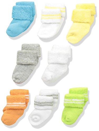 Unisex Newborn Baby Clothes (Luvable Friends Unisex 8 Pack Newborn Socks, Yellow, 0-6 Months)