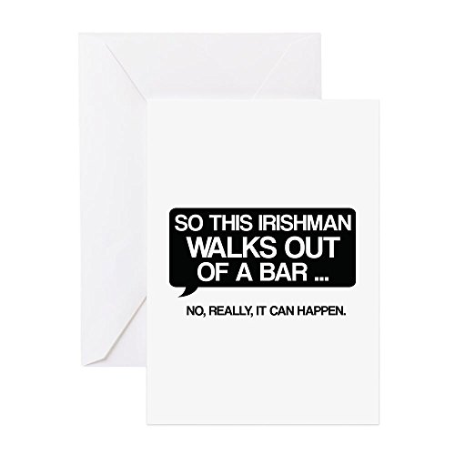 CafePress - Irishman - Greeting Card, Note Card, Birthday Card, Blank Inside (Irishman Bar)