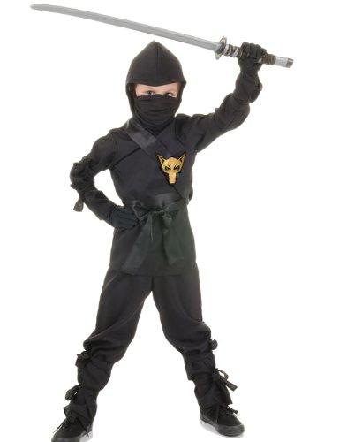 Underwraps Children's Ninja Costume, Black,