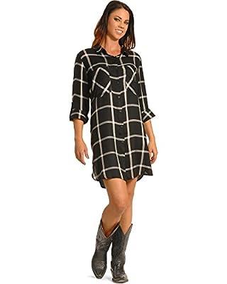 New Direction Sport Women's Plaid Shirt Dress Plus Sizes - 9309X-2301