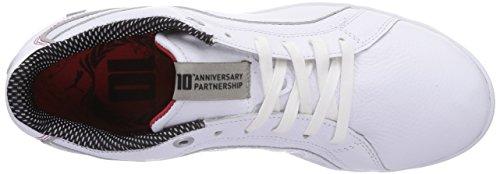 Puma Primo SF-10 - - zapatilla deportiva de cuero hombre blanco - Weiß (white-white 01)