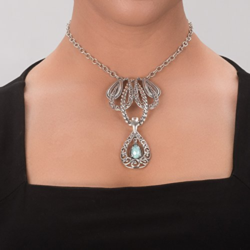 Carolyn Pollack Genuine .925 Sterling Silver Statement Necklace by Carolyn Pollack (Image #3)