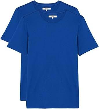 FIND Camiseta Entallada Hombre, Pack de 2, Azul (Sodalite Blue), 48 (Talla del fabricante: Small)