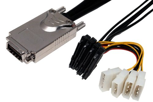 Data Storage Cables, p/n C5229-1MTC: SAS 4X w/Thumbscrews - SAS Drive x 4, 1M [Electronics]