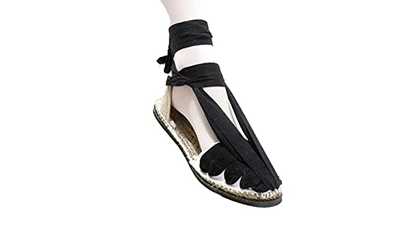 Alpargatas Espardenyes de Pagés Tradicionales Negras con Suela de Goma - Negro, 46: Amazon.es: Zapatos y complementos