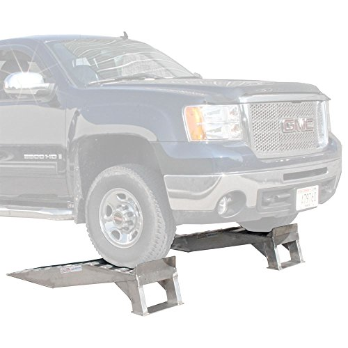 Rage Powersports Pair of Aluminum Pickup Truck Wheel Riser Service Ramps