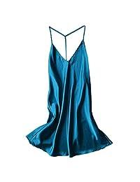 Amzeca Women Sexy Satin Sleepwear Babydoll Lingerie Nightdress Pajamas Nightgown New