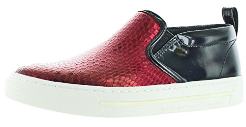 Marc by Marc Jacobs Women's Broome Sneakers Shoes Red Size 9 (Snakeskin Embossed Pumps)