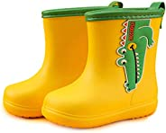 Caopixxzful Kids Rain Boots for Girls Boys Dinosaur Print Rubber Rainboots Non-Slip Mud Boot