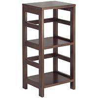 SJ Collection B12900001 Hyder Storage Rack Wood Shelf, Small, Espresso