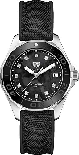 Tag Heuer Aquaracer Black Mother of Pearl Diamond Dial Ladies Watch WAY131M.FT6092