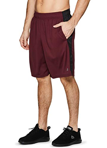 RBX Active Men's Athletic Basketball Gym Shorts with Pockets S-19 Red XL]()