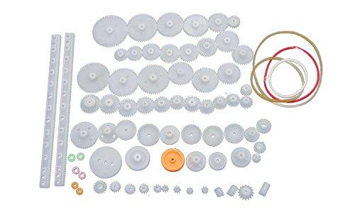 - Flormoon Gear Wheel Worm Gear Spur Gear 75 Type Plastic Crown Gear Single Double Reduction Gear