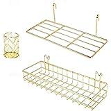 BULYZER Grid Wall Shelves Basket with Hooks,Bookshelf,Display Shelf for Wall Grid Panel,Wall Mount Organizer and Storage Shel