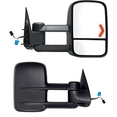 Fit System 62075-76G Chevrolet/GMC/Cadillac Driver/Passenger Side Replacement Towing Mirror Set with Turn Signal and Dual Glass: Automotive