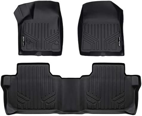 SMARTLINER All Weather Custom Fit 2 Row Black Floor Mat Liner Set Compatible With 2019-2021 Chevrolet Blazer (Only Fits With 2nd Row Bench Seat)