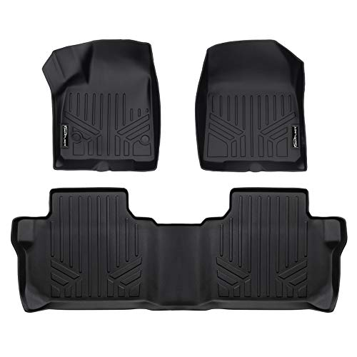 Chevrolet Blazer Floor - MAX LINER A0230-P/B0248-P Custom Fit Floor Mats 2 Row Liner Set Black for 2019 Chevrolet Blazer