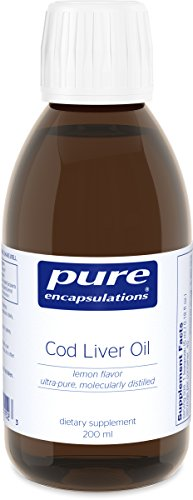 - Cod Liver Oil - Molecularly Distilled with Naturally Occurring Vitamin A & D - Lemon Flavor - 200 ml (6.76 fl oz) (Pure Cod Liver Oil)