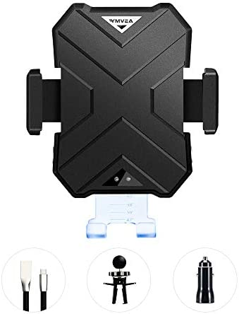 YMVEA Wireless Fast Charging Mobile car Phone Bracket Intelligent Recognition of Wireless Charging Program for IPhone, Samsung and Android Mobile Phones, in line with QI Standards