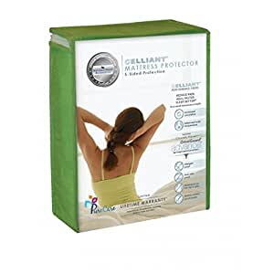 "Celliant 5-Sided Mattress Protector Depth: 8-13.5"", Size: Full"