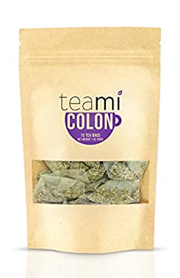 Detox Tea Weight Loss Cleanse - 30 Day Supply Slimming Teami Colon Tea Bag with All Natural Herbal Ingredients to Reduce Bloating, Boost Metabolism, and Release Toxins