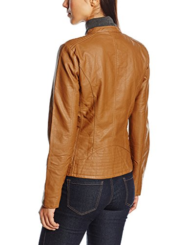 Noos Impermeable Cognac Biker Otw Leather Mujer Faux Only Onlfreya Marrón qYwXgzg