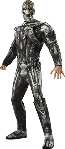 Ultron Costume (Rubie's Costume Co Men's Avengers 2 Age Of Ultron Deluxe Adult Ultron Costume, Multi, X-Large)