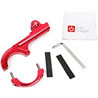DURAGADGET Ultra-Strong Aluminium Handlebar Mount in Red with GoPro Style Mount - Compatible with the AEE S60 Plus | S71T Plus | S90 | S91 Action Cameras - Plus BONUS Microfibre Cleaning Cloth!