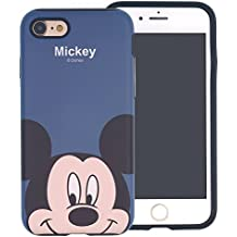 iPhone 8 / iPhone 7 Case , DISNEY Cute Mickey Mouse Layered Hybrid [TPU + PC] Bumper Cover [Shock Absorption] for iPhone8 / iPhone7 (4.7inch) - Look Mickey Mouse