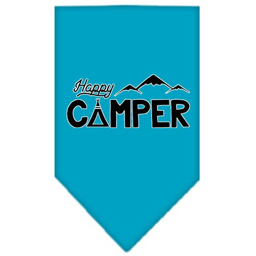 (Happy Camper Screen Print Bandana Turquoise Large)