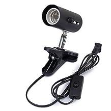 Aquarium Reptile Light Holder Clamp Infrared Emitter Heat Lamp Stand