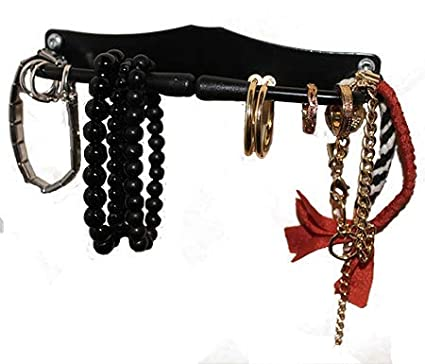 All Items are readily Accessible Without Removing Any Other Items. A Wall Mounted Ingenious Design for Multiple Uses Decorative Key Hanger Made of Steel HangIt