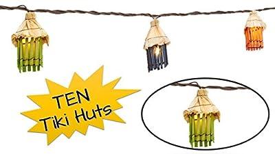 TopNotch Outlet Tiki Lights - String Lights - Fun Tiki Hut Luau Theme for Your Home Garden Deck or Patio - Tiki Bar Decor - Patio Lights